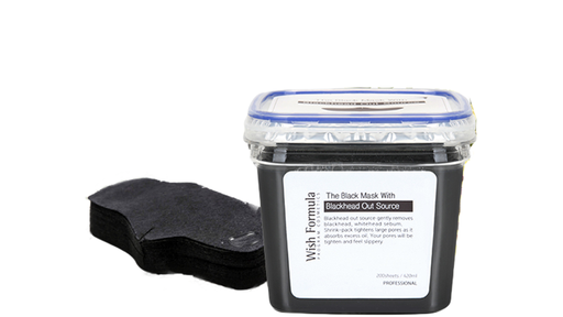 [WSH-BHOS-0420M] Wish Formula The Black Mask with Blackhead Out Source (200 sheets/420ml)